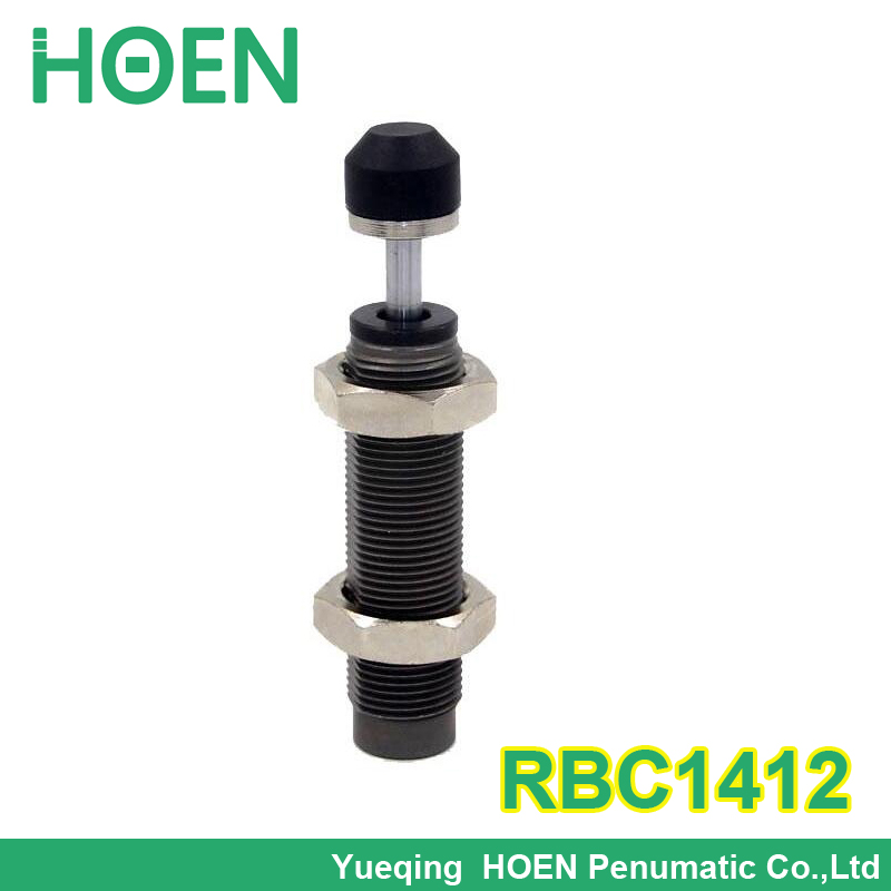 RBC1412 Pneumatic Air Cylinder Shock Absorber RBC 1412 O.D. thread size 14mm Stroke 12mm SMC type Buffers with cap<br><br>Aliexpress