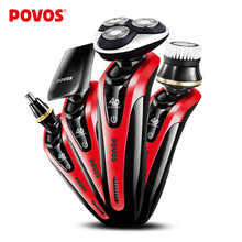 POVOS Professional Personal Care Kit for Men-4D Fully Washable Shaver with 360-degree Shaving Triple Rotatory Head PD9209QS-01(China)