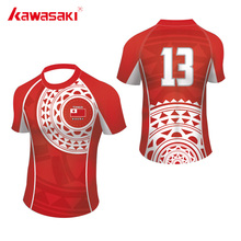 Kawasaki Brand Practice Rugby Jersey Men & Women Top Sublimation Custom Fans Exercise Quick Dry Sprots Team wear Shorts(China)