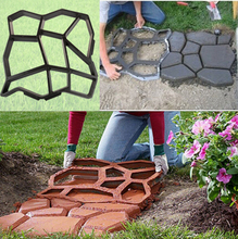 DIY Plastic Garden Path Maker Mold Manually Paving Cement Brick Mould Courtyard Ornament Stone Road Auxiliary Decoration Tools