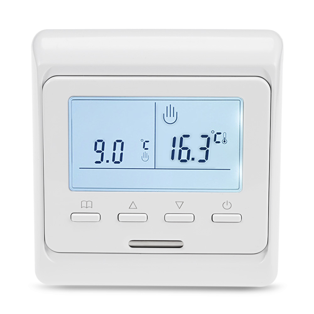 2W M6.16 LCD Display Programmable Heating Thermostat Backlight Programmable Weekly Underfloor Smart Temperature Controller