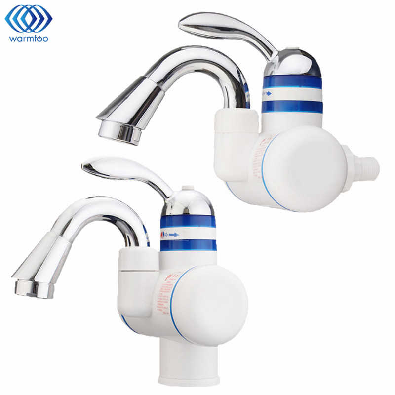 220V Instant Heating Electric Water Tap Leakage Protection Plug Electrothermal Faucet Hot &amp; Cold Kitchen Sink Household<br>
