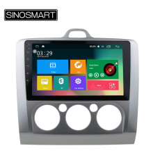 SINOSMART Support 4G 9'' Quad Core RAM 2G/1G Android 5.1 Car Navigation GPS Player for Ford Focus HD Screen No Canbus