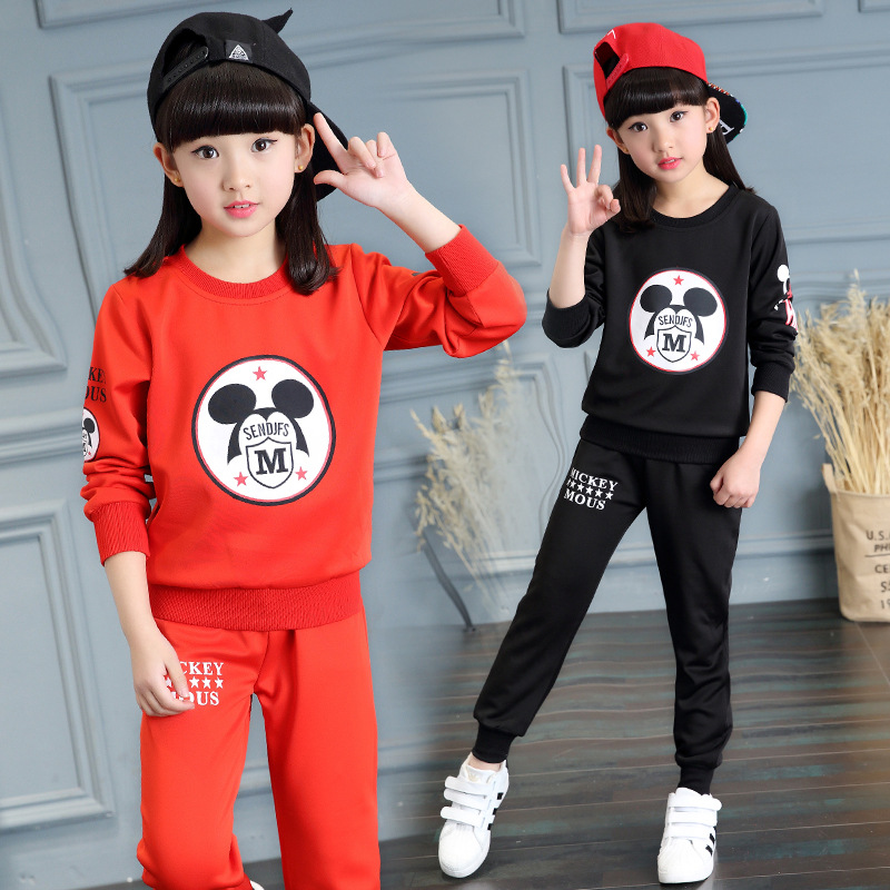 2017 Spring Autumn Fashion Style Girls Clothing Sets Sports wear Long Sleeve Cartoon Kids Clothing Sets<br><br>Aliexpress