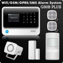 G90B 2.4G WiFi GSM GPRS SMS Wireless Home Security Alarm System IOS Android APP Remote Control Detector Sensor(China)