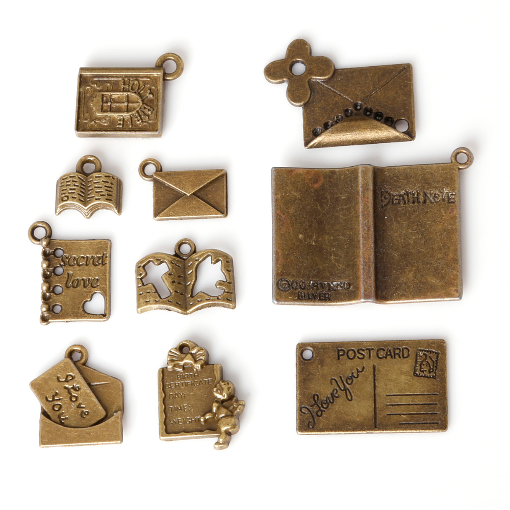 Fashion Sale Antique Bronze Plated Book mailbox Pendants Zinc Alloy Charms Jewelry Findings For DIY Fashion necklace bracelet(China (Mainland))