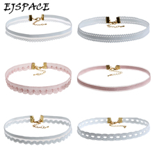 EJSPACE 6PCS/SET Fashion Lace Choker Necklaces Set for Women Steampunk Collar Lace Necklace Jewelry Gothic Tattoo Collier Femme