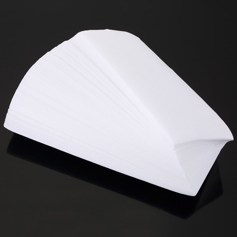 100Pcs Hair Removal Special Paper Removal Nonwoven Body Cloth Hair Pad Paper Strips Wax Salon Spa Leg H7 20