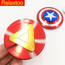 Captain America Ironman EDC Spinner Super Hero Iron Man Hand Fidget Spynner Finger Toys for Anxiety Anti-stress Adults Hot Gift