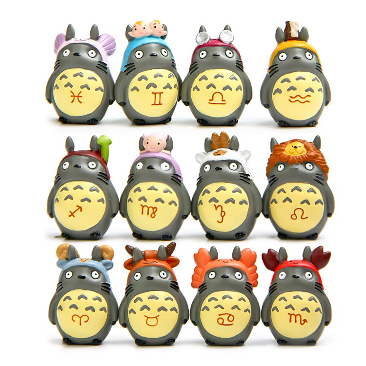 12pcs/set 4-6cm Japanese Anime Movie My Neighbor TOTORO Figures For 12 Constellations Totoro Action Figure Toys For Children<br><br>Aliexpress