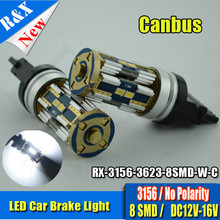 Canbus 3156 led bulb, Xenon white 600Lm P27W 3156 Led High Power Samsung led turn signal Light Vehicles Car parking Lights Bulbs