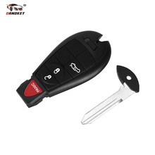 DANDKEY NEW 4 Buttons Remote Case Smart Key Shell For Chrysler Jeep Commander Grand Cherokee Replacement Fob+ Insert Blade(China)