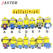 JASTER 100% real capacity  Minions u disk despicable me 2 usb flash drive pendrive 8gb 16 gb 32 gb pen drive cute memory stick