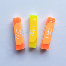 H02 1X Simple Solid Jelly Fluorescent Rubber Eraser Correction School Office Supply Stationery Prize Promotion Kid Gift