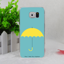 A1074 Mother Yellow Umbrella How I Met Your Mother Transparent Hard Thin Case Cover For Samsung Galaxy S3 S4 S5 S6 S6 Edge S7