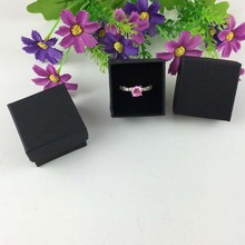 48PCS 4*4*3cm Fashion High Quality Paper Ring Boxes and used for Earrings/Pendant small Gift Box(China)