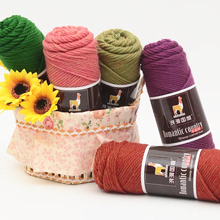 Worsted Alpaca Wool Yarn Silk for Knitting Baby Thick Thread Crochet DIY Hand Eco-Friendly Dyed Knitting Wool Natural Soft Blend(China)