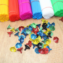100pcs 27CM Balloon Rods for Support Balloon Stick Balloon Decoration Accessories Party Supplies Balloons Holder Sticks