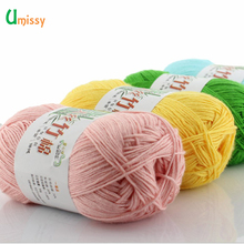 Bamboo Yarn Cotton Fiber Yarn for Baby Kids Knitting Sweater Hat Eco-friendly 50g/Ball Free Shipping