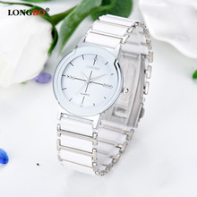 LONGBO Women's Watches White Ceramic Wristwatch Quartz Waterproof Wrist Watches Ladies dress watch for women clock reloj mujer