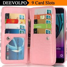 Floral Case For Sony XA Cover For Google Pixel Wallet PU Leather Bags For Xiaomi Redmi 3S Hongmi3S Flip 9 Card Slots Capa DP06