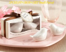 2pcs/lot=1box Classic Unique Wedding Products of Love birds salt and pepper shakers Party Favors For wedding souvenirs(China)