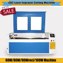 CNC CO2 laser cutter and engraver machine card engraving machine 6090 uesd for wedding card business card engraving DIY(China)