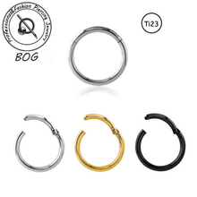 BOG-Lot 3 Pieces Titanium G23 Hinged Septum Clicker Segment Nose Ring Lip Ear Cartilage Daith Piercing 16g 14g(China)
