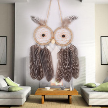 Two Head New Style Beautiful Dreamcatcher Nice Gift  Dream Catcher Net Natural Feathers Wall Hanging Decoration Ornaments