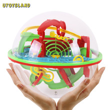 Large Size 100 Steps Small Big Size 3D Labyrinth Magic Rolling Globe Ball Marble Puzzle Cubes Brain Teaser Game Sphere Maze