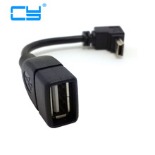 2016 Hot 1pc USB A Female to Mini 5P USB B Male Conversion Adapter OTG Cable Upwards est for car Mobile MP5 MID MP4 Tablet PC