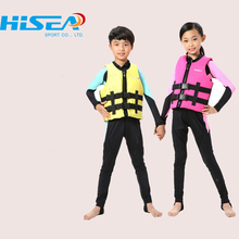Hisea Children Polyester Neoprene  Life Vest Safety life Jackets For Fishing Swimming  Surfing Boating