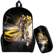 Transformer School Bag Rucksack Backpack Mochila Escolar Infnit Optimus Prime & Bumblebee