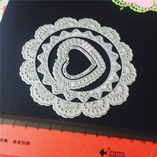 Lace pattern framlits Scrapbooking cutting/embossing die scrapbook cutting DIY greeting card making stencils Decorations(China)
