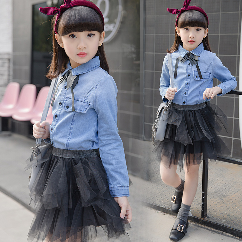 Girls Clothes Cotton Brand Children Clothing Cartoon Shirt + Skirts 2Pcs Girls Clothing Sets Spring Kids Tracksuits For Girls 3<br>