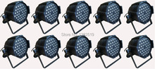 Free shipping:10pcs 54*3W RGBW PAR LED DJ dance party stage lighting stage  par64 lighting