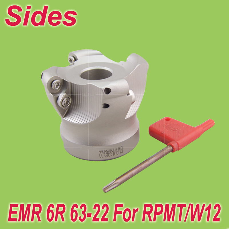 Free Shiping  EMR-6R-63-22-4T Face Milling Cutter Head for RPMT/W1204<br>