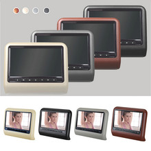 Car DVD 9.0 Inch Car Pillow DVD Player Headrest Full HD 800 x 480 LCD Screen Disc USB SD Car Multimedia Player(China)