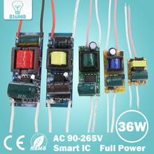 1pcs 1-36W LED Driver Input AC 85-265V Lighting Transformer Constant Current 300mA Power Supply Adapter for Led Lamps/Spotlight(China)