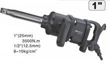 "BESTIR taiwan made excellent quality 25mm 1""  3500N.m  side Exhaust type air pneumatic tool impact wrench NO.66131"