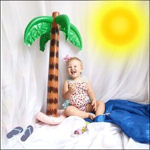 Funny Jungle Toy Inflatable Hawaiian Tree Large Inflatable for Coconut Tree For Hawaiian Summer Beach Party Decoration(China)