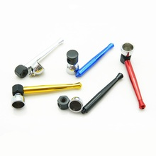 12pcs 90mm Metal Bowling tobacco Smoking pipe cigarette herb pipes smoke cigar gadgets for herb grinder hookah cheap price gift