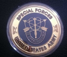Dhl free shipping 100pcs/lot Special Forces AIRBORNE Army Green Beret Challenge Coin,replica coin
