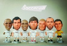 Soccerwe Spain European Soccer Star Lovely Action Figures Model Toys Fans Collection Football Dolls Gift Figo Raul Zidane