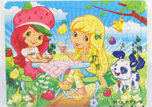 Promotion premiums GC-PTI-1-OPP Blue 28.5 X 21.5 cm 63PCS Cartoon Jigsaw puzzles manufacturer toy