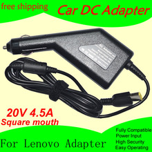 Free shipping High quality DC Power Car Adapter Charger 20V 4.5A For Lenovo Laptop 90W Input DC11-15V max 10A(China)