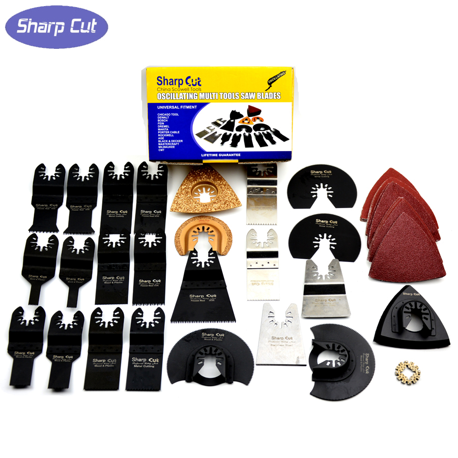 50% OFF! 50 pcs/set Oscillating Tool Saw Blades Accessories fit for Multimaster power tools as Fein, Dremel etc, FREE SHIPPING<br>