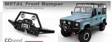 Rear/Front Chassis Bumper with Winch or Led Lights for  RC 1/10 RC4WD Land  Defender D110 D90 DG2 Gelande II Rover