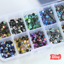 Mix Colors AB with Box ! 10 colors SS10 Size 5000pcs/bag DMC Hot Fix Rhinestones Crystal Glass Material HotFix Stone Y3023(China)