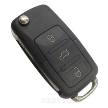 3 buttons remote key shell Flip Folding Car Key Replacement For VW Golf 4 5 passat b5 b6 polo Touran For Seat skoda with VW logo